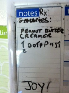 Grocery list joy